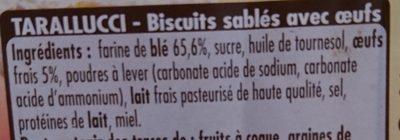 Tarallucci Mulino Bianco - Ingrediënten - fr