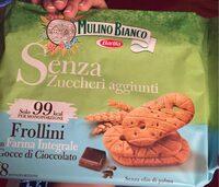 Frollini con farina integrale e cioccolato - Product