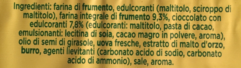 Frollini con farina integrale e cioccolato - Ingrediënten