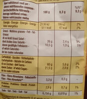 Baiocchi - Nutrition facts