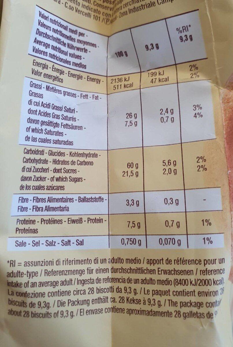 Baiocchi - Informazioni nutrizionali - it