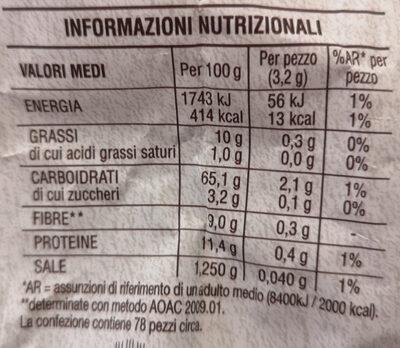 Spighe integrali - Informations nutritionnelles - fr