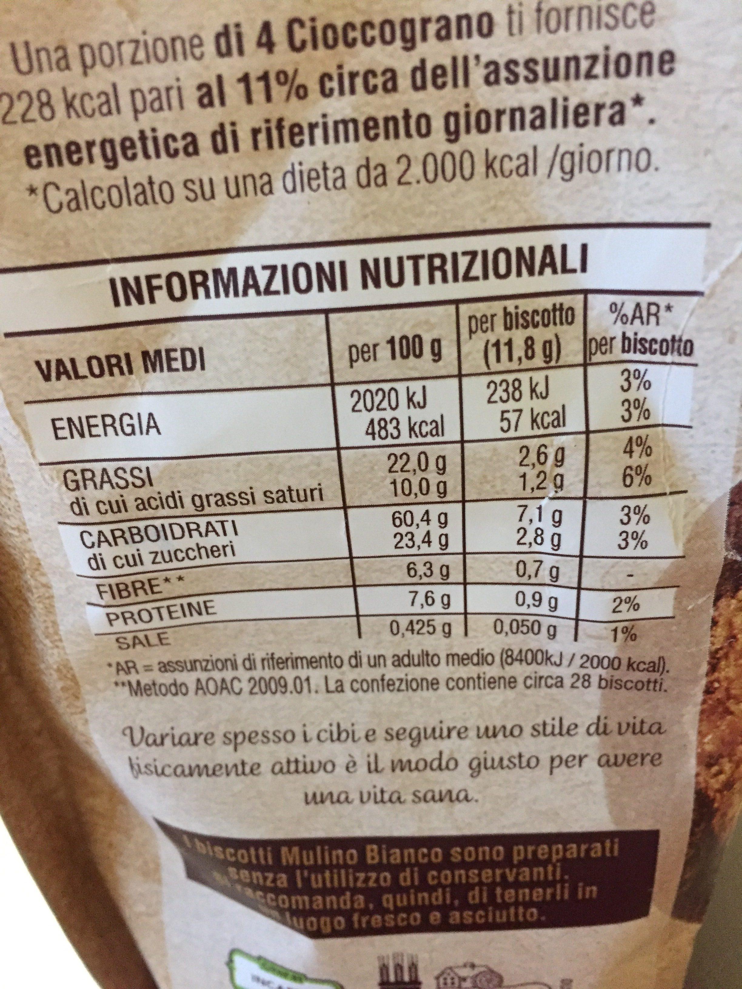 Cioccograno - Ingrediënten - fr