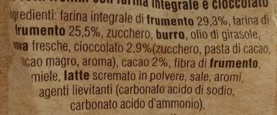 Cioccograno - Ingredients - it