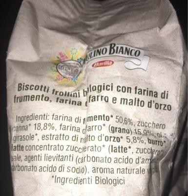 Frollini - Ingrediënten