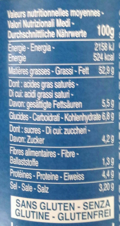 Sauce Pesto Genovese biologique - Informazioni nutrizionali - fr
