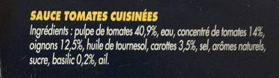 Sauce tomates cuisinées - Ingrediënten