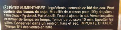 Pâtes Fusilli Bucati Corti - Ingrediënten - fr