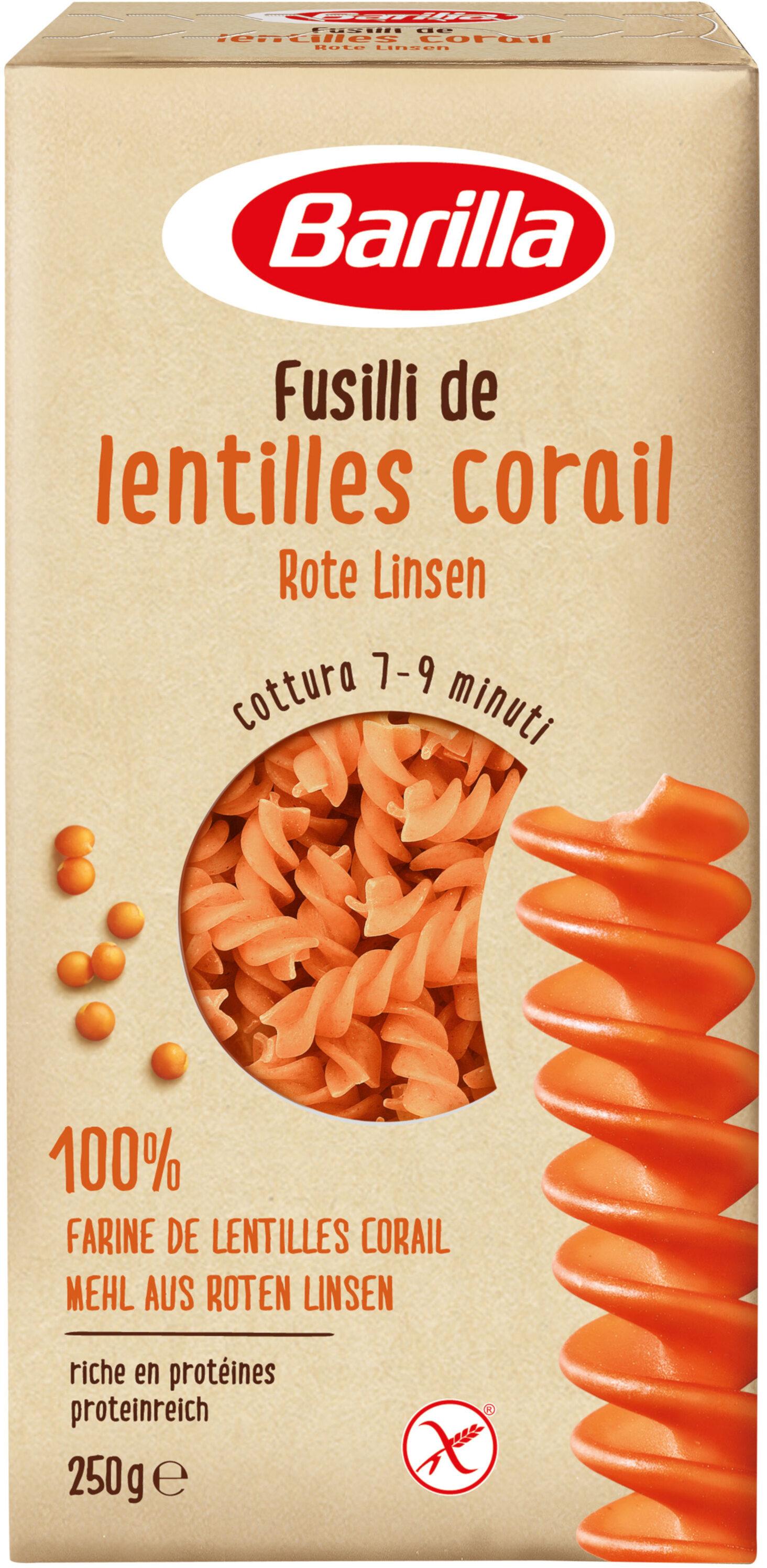 Barilla pâtes fusilli de lentilles corail - Produkt - fr