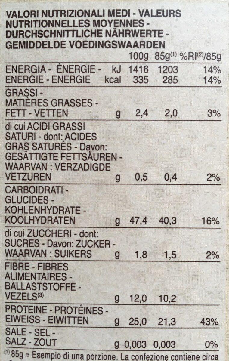 Barilla pâtes fusilli de lentilles corail - Nutrition facts - fr