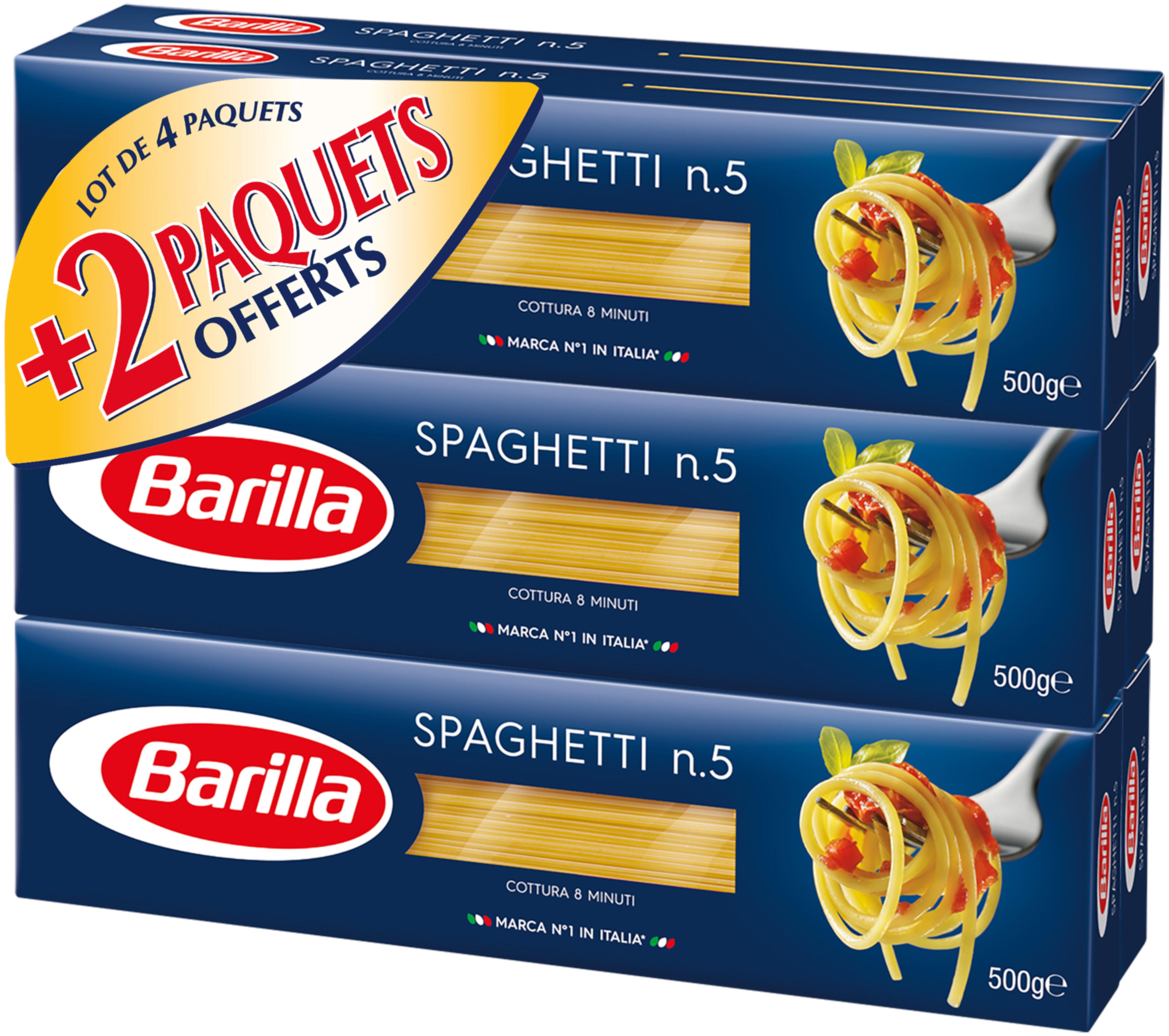 Lot pâtes Spaghetti x6 - Product - fr