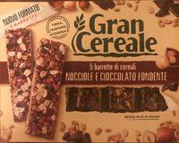 Barrette di cereali nocciole e cioccolato fondente - Product