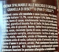 Pan di stelle crema - Ingredients