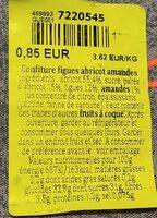 Confiture figues abricots amandes - Informations nutritionnelles - fr