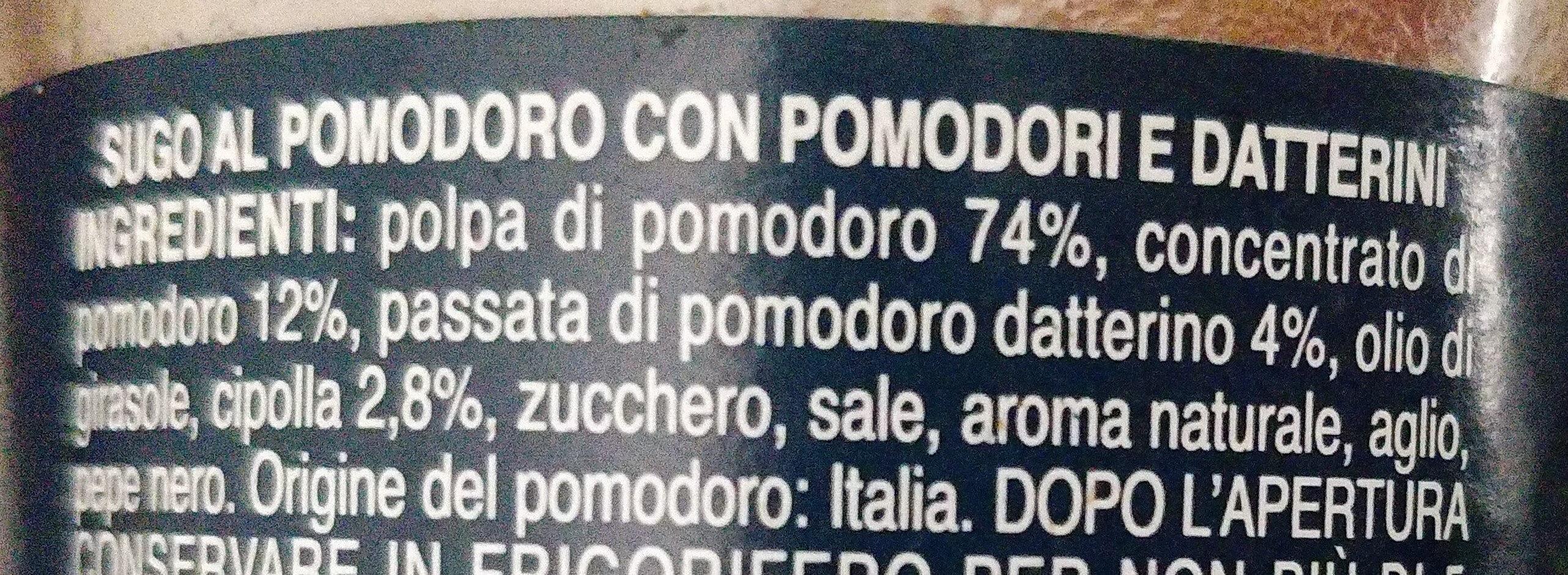Pomodoro e datterini - Ingredients - it
