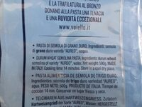 Mezze Maniche Rigate GR. 500 (e) - Ingrédients