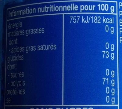 Pure fresh - Informations nutritionnelles