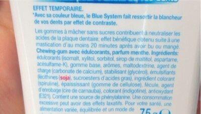 Mentos insta white - Valori nutrizionali - fr
