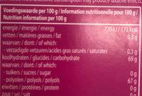 Mentos Gum Blister Breeze Cherry Mint - Voedingswaarden