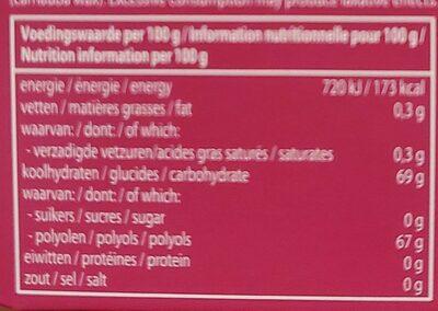 Mentos Gum Blister Breeze Cherry Mint - Voedingswaarden - fr