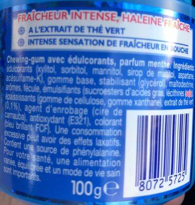 Mentos Pure Fresh - Ingrédients - fr