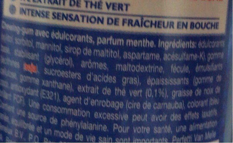 Mentos Pure Fresh Mint - Informations nutritionnelles - fr