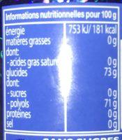 Mentos Pure Fresh Mint - Informations nutritionnelles