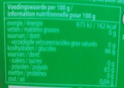 Gum Cubes Ice Green Mint - Informations nutritionnelles - fr