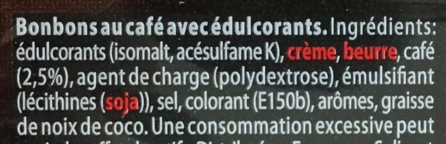 Fruit-tella sans sucres Expresso - Ingrédients - fr