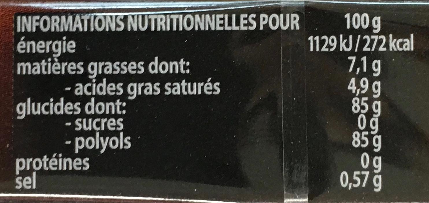 Fruit-tella sans sucres Expresso - Informations nutritionnelles - fr