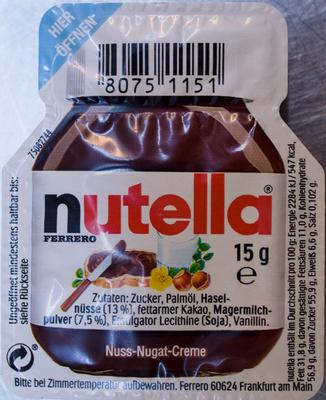 Nutella Barquette - Produit