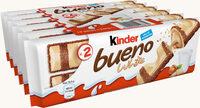 Kinder bueno white gaufrettes enrobees de chocolat blanc x2 barres - Produit - fr