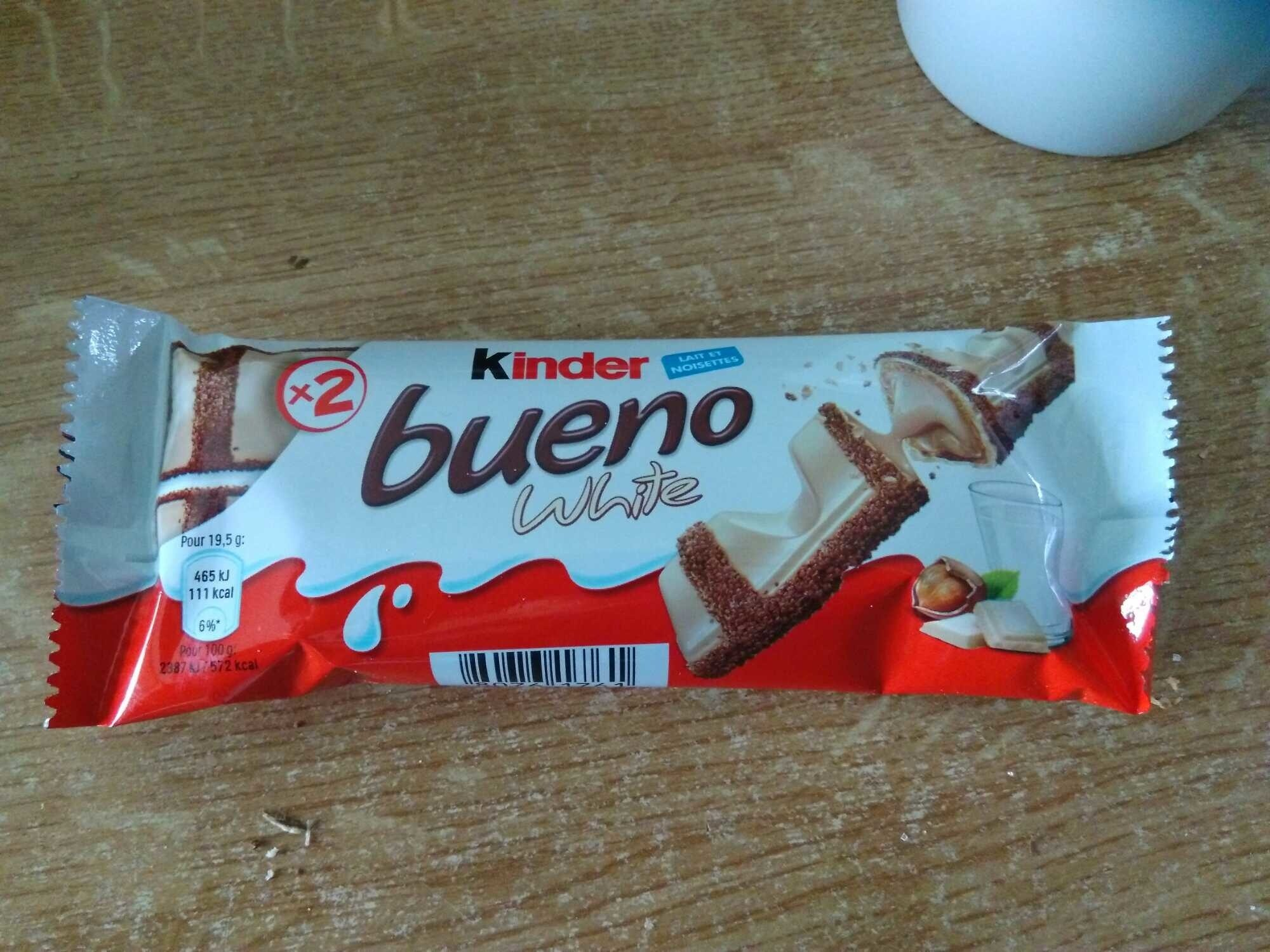 Kinder bueno white gaufrettes enrobees de chocolat blanc x2 barres - Prodotto - it