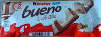 Kinder bueno white gaufrettes enrobees de chocolat blanc x2 barres - Produkt - pl