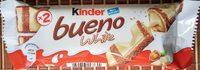 Kinder bueno white gaufrettes enrobees de chocolat blanc x2 barres - Производ - sr