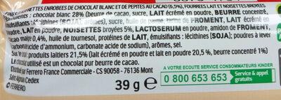 Kinder Bueno white - Ingrediënten - fr