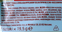 Kinder bueno white gaufrettes enrobees de chocolat blanc x2 barres - Składniki - pl