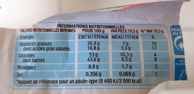 Kinder bueno white gaufrettes enrobees de chocolat blanc x2 barres - Nutrition facts - en