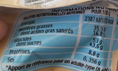 Kinder bueno white gaufrettes enrobees de chocolat blanc x2 barres - Informations nutritionnelles - fr