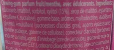 Mentos White  - Ingredients