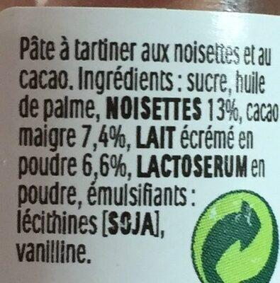 Nutella Mini - Ingredienti - fr