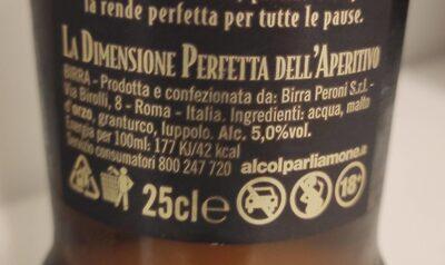 Birra - Valori nutrizionali - en