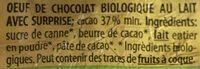 OEUFS SURPRISE BIO PONCHITO - Ingredienti - fr