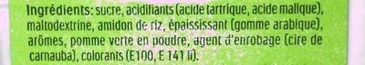 Tic Tac Pommes - Ingrédients