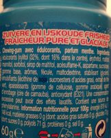 Mentos Gum Bottle Ice Crush Ice Mint X6 - Ingrédients - fr