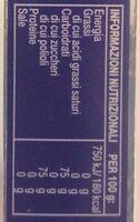 Chewing gum - Voedingswaarden - it