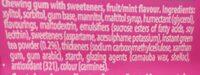 mentos pure fresh gum bubblegum flavour - Ingredients - en
