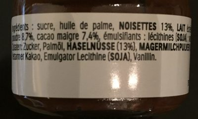 Mini Nutella - Ingrediënten - fr