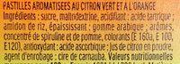 Tic Tac Citron Vert & Orange - Ingredientes - fr