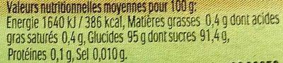 Tic Tac Citron Vert & Orange - Informação nutricional - fr